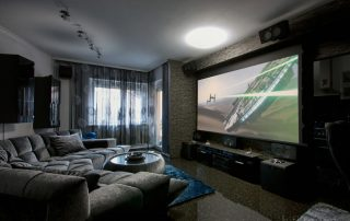 large television in living room